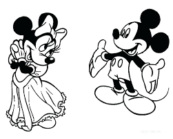 Minnie And Mickey Mouse Coloring Pages Christmas Baby