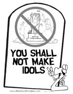 This Is A Bible Coloring Page Of The First Commandment With Picture One Way Sign Pointing To God