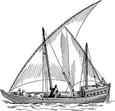Dhow Sail Boat Clip Art Free Vector In Open fice Drawing Svg