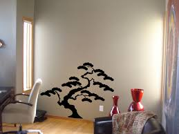 Bonzai Tree Wall Stickers For Living Room Decor Painting Stencil