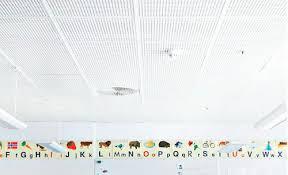 faux plafond en plâtre en dalles acoustique perforé