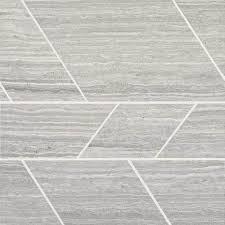 daltile limestone chenille white modern polished mosaics daltile