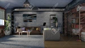 100 Loft Apartment Interior Design Modern Minimalist Design Living Room Interior In Loft Apartment