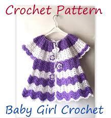 crochet jacket pattern baby spring chevron crochet