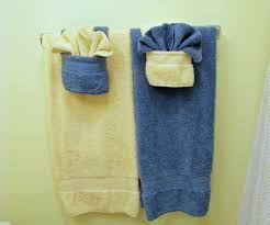 Decorative Towels For Bathroom Ideas by Fold Fancy Towels W Pockets 5 Steps With Pictures