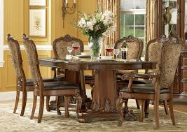 Ethan Allen Dining Room Tables by A R T Old World 7 Pc Double Pedestal Dining Set In Cherry By