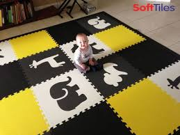 Foam Tile Flooring Uk by Personalized Baby Play Mats Alphabet Mats With Safari Animals