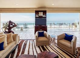 Stunning Ocean View From The Living Room With Coastal And Tropical Styles Design DRichards
