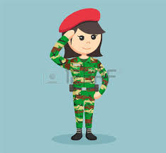 Soldiers Clipart Woman Soldier 5
