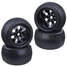 100 Truck Tired 4pcs 22 Inch RC 18 Monster Tires Wheel Rim Rubber 17mm Hex