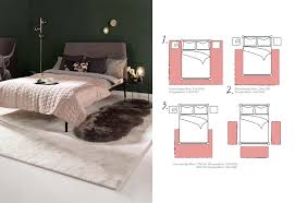 teppichgroesse bestimmen teppich schlafzimmer