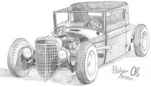 Antique Car Drawing By Philip Konen Robsrodart