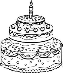 Birthday Cake Coloring Page Printable Archives With
