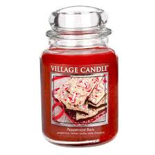 Aurora Candle Warmer Lamp by Discontinued Peppermint Bark 26 Oz Premium Round By Village