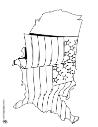 Proud Soldier US Flag Coloring Page
