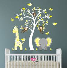 Pochoirs Chambre Bé Pochoir Elephant Chambre Bebe Avec Jungle Sticker Autocollants De