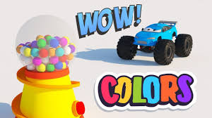 Learn Colors With Monster Trucks | YouTube Kids