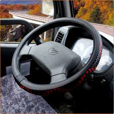 KKYSYELVA Black Leather Steering Wheel Covers For Car Bus Truck 36 ... Truck Steering Wheel Cover Black Silver 4446cm Roadkingcouk Brown Masque Grey 4748cm 14 F814h Forever Sharp Wheels Scania 3series Black Real Italian Leather Steering Wheel Cover 1987 Wheel In A Truck Stock Photo Image Of Switches 40572066 Fichevrolet Ww Ii Fire Eagle Field Two Steering Wheeljpg Bestfh Rakuten Leather Car Auto American Simulator Youtube Pro Usa Chevy Gm Perforated Ss