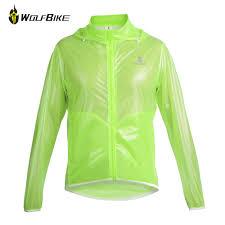 aliexpress com buy wolfbike green cycling jersey rain jacket men