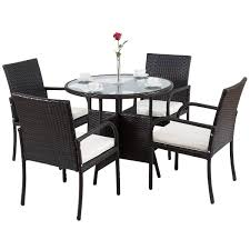 Patio Dining Set Outdoor Wicker Rattan Table And Chairs ... 315 Round Alinum Table Set4 Black Rattan Chairs 8 Seater Ding Set L Shape Sofa Brown Beige Garden Amazoncom Chloe Rossetti 17 Piece Outdoor Made Coffee Table Set Stock Photo Image Of Contemporary Hot Item Modern Fniture Stainless Steel And Lordbee Large 5 Pcs Patio Wicker Belleze 3 Two One Glass Details About Chair Cushion Home Deck Pool 3pc Durable For Pcs New Y7n0