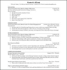Study Abroad Resume On Example New Resumes Sample