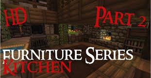 Minecraft Kitchen Ideas Youtube by Minecraft Medieval Furniture Series Part 2 The Kitchen Hd