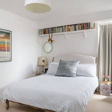 White Bedroom With Shelf