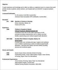 New Graduate Nurse Resume Examples Sample