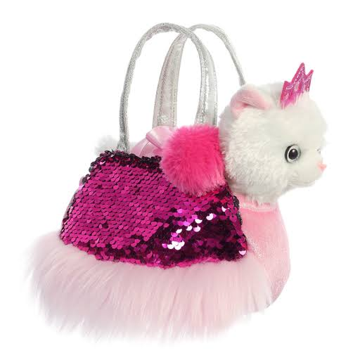 Aurora World Fancy Pals - Simmers Princess Kitty Carrier 7""