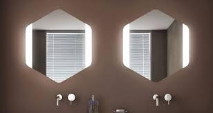 koh i noor spiegel mit led beleuchtung top line esagono frontale italienisches design für bad und wohnraum