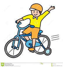 Riding Bike Rider Clipart 1