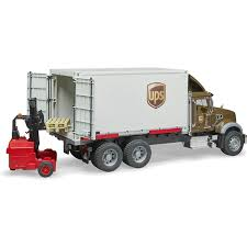 Bruder MACK Granite UPS Logistics Truck With Mobile Forklift - Buy ...