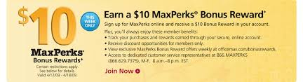 $10 fice Max Rewards for teachers or small business owners