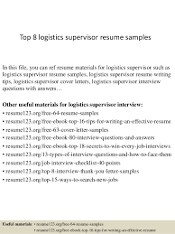 Logistics Resume Examples Top Supervisor Samples Jpgcb On Management Velvet Jobs