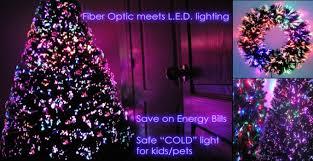 Fiber Optic Christmas Trees Meets LED Lights