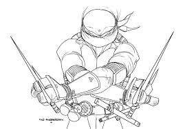 Gallery Of Good Ninja Turtles Coloring Page 15 For Your Free Book With