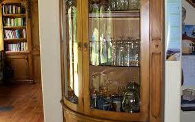 Corner Curio Cabinets Walmart by Cabinet Corner Lighted Curio Cabinet Mahoganycorner Mahogany