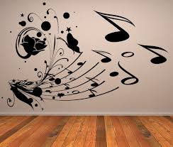 Musical Collage Music Notes Wall Stickers Art Decal Transfers