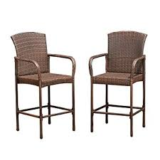 Amazon Prime Patio Chair Cushions by Amazon Com Costway Rattan Wicker Bar Stool Outdoor Backyard