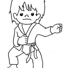 Karate Coloring Pages Download And Print For Free