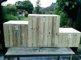 Wood Pallets Fence Made From Out Of