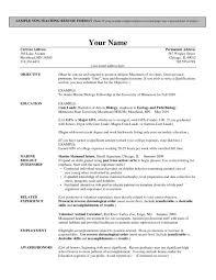 ResumeEducation Format Resume Sample For Teaching Job Teacher Example Resumes Kleo Assistant