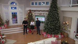 Qvc Christmas Tree Storage Bag by Scott Living 14 U0027 Snow Dusted Led Color Flip Fir Tree With 7