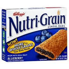 Kelloggs Nutri Grain Cereal Bars Blueberry