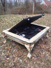 Diy Hidden Gun Cabinet Plans by Hidden Gun Safe Coffee Table My Rustic Creations Pinterest