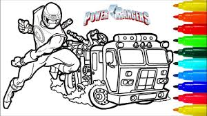 Power Rangers Samurai Fire Engine Coloring Pages | Colouring Pages ...