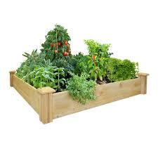 greenes fence 48 in x 48 in cedar raised garden bed rc 4c4 the