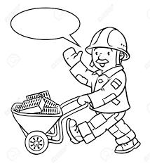Coloriage Ou Livre De Coloriage De Travailleur De La Construction