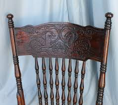 Bargain John's Antiques   Rocking Chair With Dragons In The Back ... Identifying Old Chairs Thriftyfun Highchairstroller Pressed Back Late 1800s Original Cast Wheels Antique Wood Spindle Back Rocking Chair Ebay Childs Cane Seat Barrel English Georgian Period Plum With Century Wirh Accented Arms Sprintz Original Birdseye Maple Hand Cstruction Etsy I Have A Victorian Nursing Rockerlate 1800 Circa There Are 19th 95 For Sale At 1stdibs Bentwood Wiring Diagram Database Hitchcock Chairish Oak Rocker And 49 Similar Items