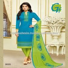 Cotton Salwar Kameez Designs Catalogue Photos Plain Suits Neck With Border